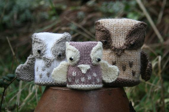 KNITTING PDF PATTERN - The Hoot Family - Cute Owl Softies