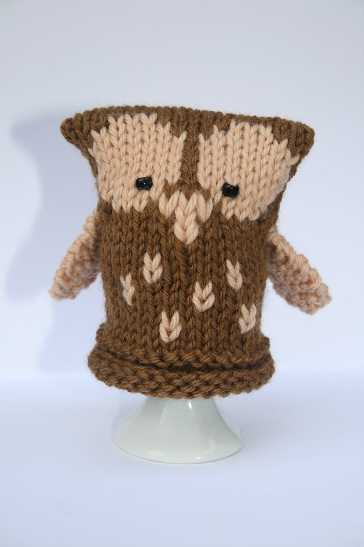 Owl Chick and Penguin Egg Cozies KNITTING PDF by SleakeKnits