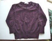 Vintage Cashmere Sweater with Beaded Collar