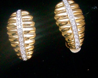 Vintage Nolan Miller Designer Earrings Bridal Fashion Mad Men Party Jewelry