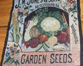 Vegetable Seed PackageTapestry Style Pillow Panel (set of 2) garden flowers Cushion panel