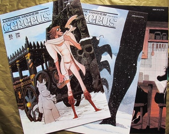 SALE Cerebus comic book collection (set of 15) / Vintage David Sim Comic Books / Cerebus the Aardvark / Aardvark Vanaheim