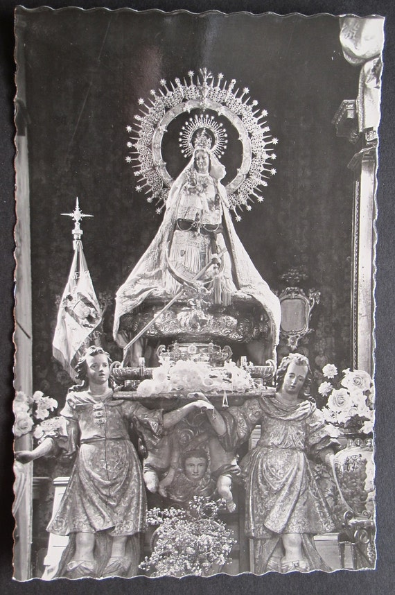 SALE Vintage Spanish photo postcard Segovia Our Lady of the Fuencisla