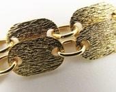 3 Feet Vintage Matte Gold Flat Oval Textured Link Chain Ch98