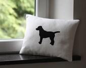 Labrador Dog applique pillow cover