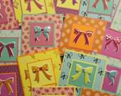 SALE Ribbon Bows Colorful Mini Cards (set of 8)
