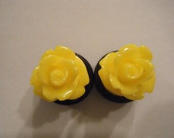 00 Gauge Yellow Rose Plugs