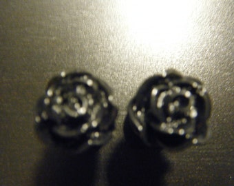 00 Gauge Black Rose Plugs