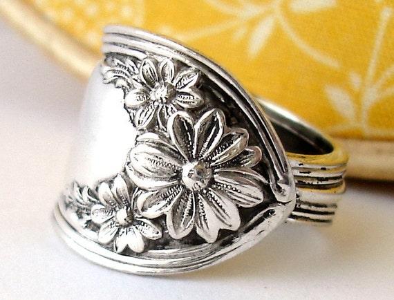 Spoon Ring, Size 6, Daisy 1910