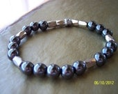 High Power Magnetic Hematite Stretch Bracelet