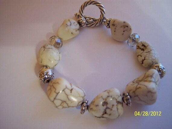White Turquoise Nugget Bracelet