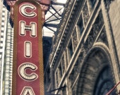 Chicago Theater, vintage style photograph 8x10