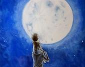 Stargazers Watercolor Illustration