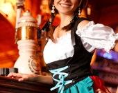Halloween Dirndl - German Bavarian Bustier Beer Maid Outfit - Oktoberfest Dress