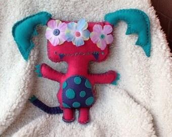 Batwina Hand-Stitched Felt Monster