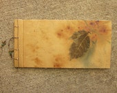 Blank Art Book with Handmade Antique Paper, Leaf  Theme