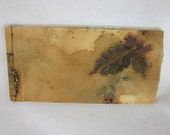 Hand bound Art Book with Handmade Paper, Calligraphy, Leaf and Nature Theme