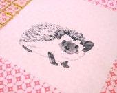 Original Fabric Square - Hedgehog