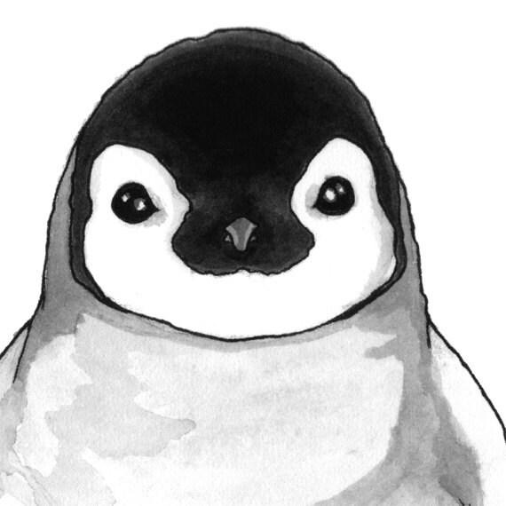 Penguin Art Print - Matted 8x10