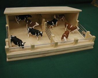 Children's Toy Cattle Feeding Shed
