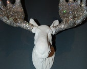 THE MONROE COLLECTION - Swarovski Moose -Chic Couture Rhinestone Taxidermy