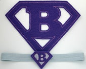 Iron On Superbaby Patch and Matching Elastic Headband