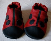 Ladybird Leather Soft Sole Baby Shoes - Choose your size