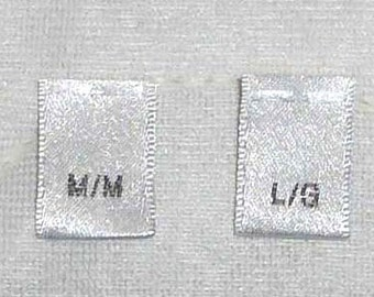 800 Woven Clothing Sewing Size Labels Tags S-M-L-XL