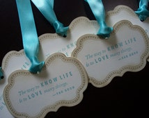 "Elegant ""The Way to Love Life..."" Gift/Wish Tags"