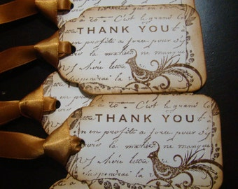 French Inspired Thank You Gift Tags