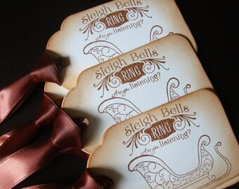 Sleigh Bells Ring: Are You Listening Vintage Inspired Gift Tags