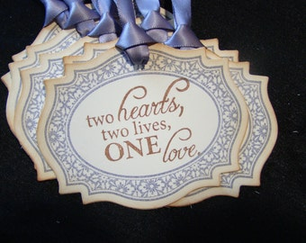 Two hearts, two lives, one love - Gift/Wish Tree Tags