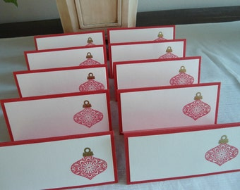 Red Christmas Ornament Place/Escort Cards