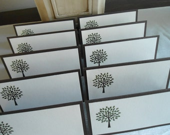 Embossed Tree Place/Escort Cards