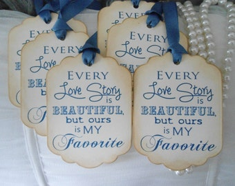 Vintage Inspired Wedding Wish Tree Tags - Quote for Couples