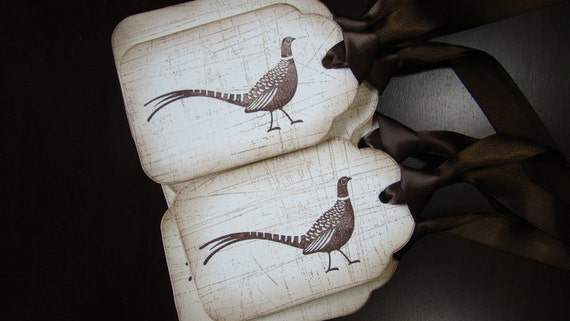 Vintage Inspired Turkey Gift Tags - set of 6
