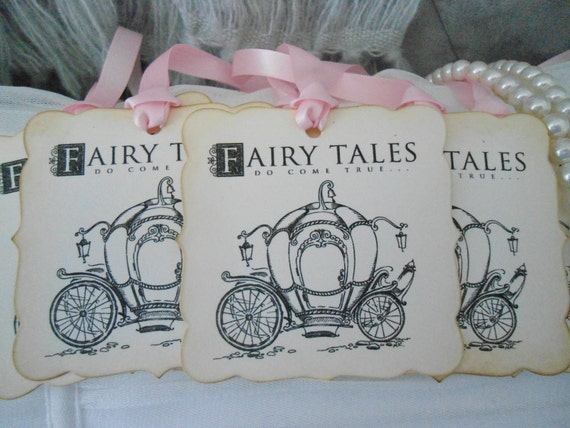 Fairy Tales Do Come True - Vintage Inspired Carriage Gift/Wish Tree Tags