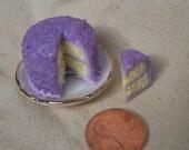 Iced sugar Cake Lavender