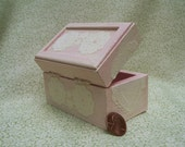 Shabby Chic Chest, pink blush with lace