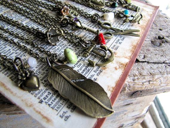 Wholesale 12 Simple Charm Necklaces