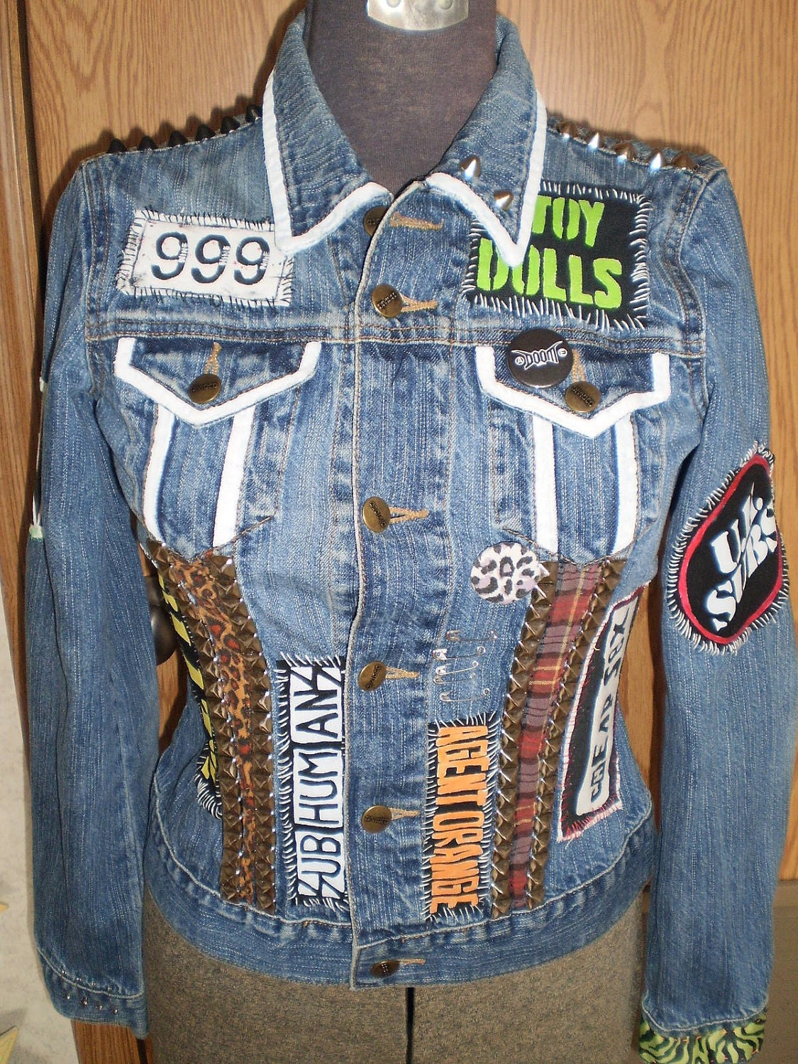 Diy Punk Studded Denim Jacket