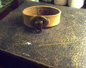 """Reserved Leather """"Father Dear"""" Cuff With Flap Catch Hardware"""