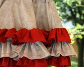 Ruffled Skirt in Team Colors by Sew Jewell