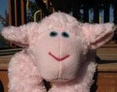 RESERVED Plush Pink Sheep Heating Pad - Sweet Pea