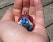 Needle Felted Turtle Pendant and Chain - MADE TO ORDER