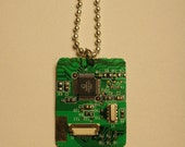 Dog Tag Circuit Board Necklace