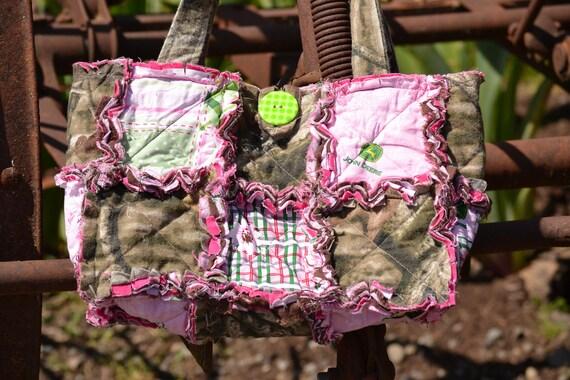 Mossy Oak & Pink John Deere Rag Purse