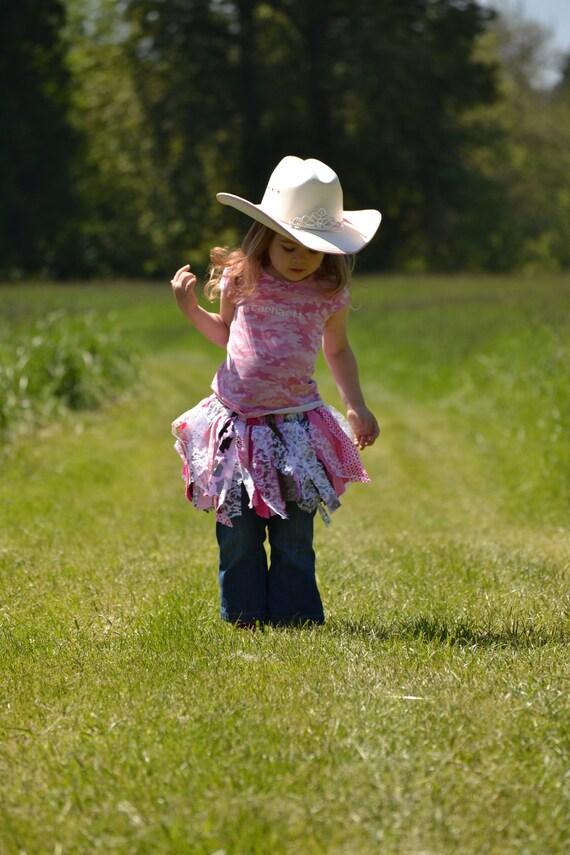 Pink Cowgirl Rag Tutu