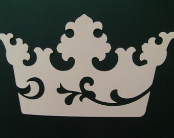 Beautiful Diecut Princess Crown for invitations, scrapbooking, decor