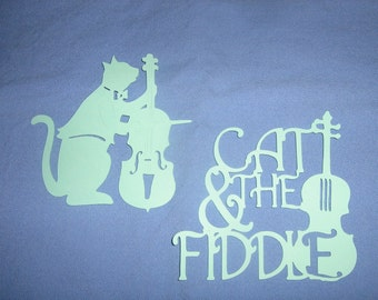 The Cat and the Fiddle, Mother Goose, nursery rhyme, baby shower, scrapbooking, nursery decor